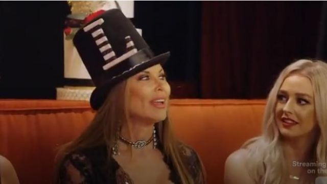 Gucci Crystal Web drop earrings outfit worn by LeeAnne Locken in The Real Housewives of Dallas Season04 Episode06 - TV Show Outfits and Products