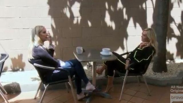 Gucci Leather Gucci Logo Mules outfit worn by Shannon Beador in The Real Housewives of Orange County Season 14 Episode 15 - TV Show Outfits and Products