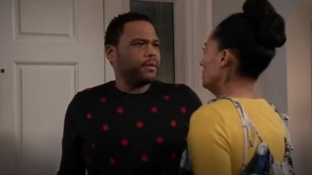Gucci Wool Crewneck With Bees And Stars outfit worn by Andre 'Dre' Johnson (Anthony Anderson) in black-ish (Season 03 Episode 11) - TV Show Outfits and Products