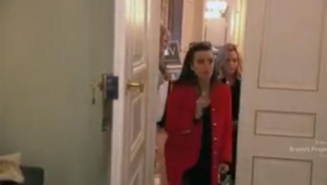 Gucci Wool Peacoat outfit worn by Herself (Kyle Richards) in The Real Housewives of Beverly Hills (Season09 Episode18) - TV Show Outfits and Products