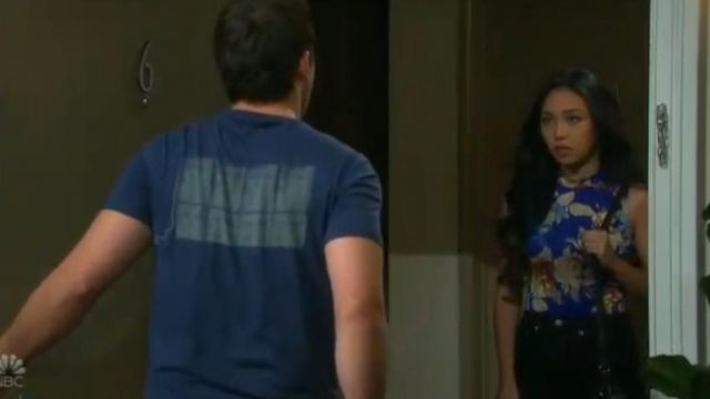 Guess Women's Sleeveless Mikah Mock Neck Bodysuit outfit worn by Haley Chen (Thia Megia) as seen in Days of Our Lives June 27