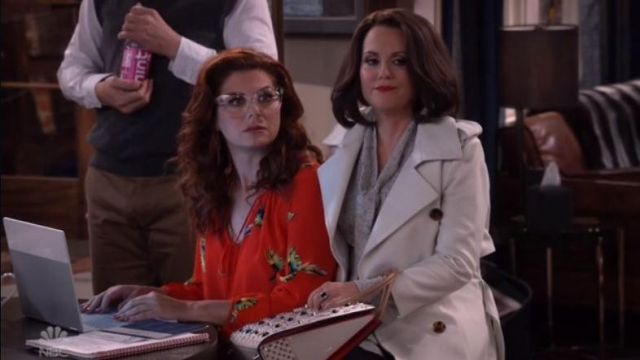 Hand bag pink Karen Walker (Megan Mullally) seen in Will & Grace (Season 2 Episode 4) - TV Show Outfits and Products