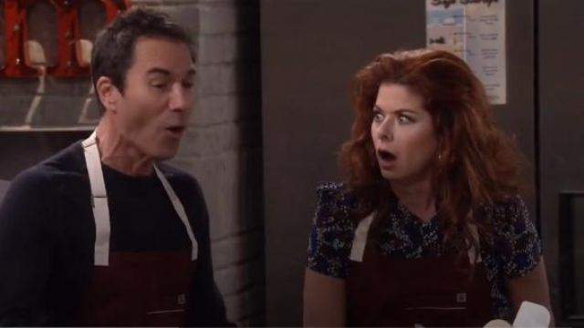 Hedley & Bennett Bordeaux Apron outfit worn by Grace Adler (Debra Messing) in Will & Grace (S01E08) - TV Show Outfits and Products