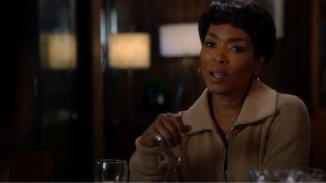 Helmut Lang Beige Knit Sleeve Sweatshirt outfit worn by Athena Grant (Angela Bassett) in 9-1-1 Season 03 Episode 07 - TV Show Outfits and Products