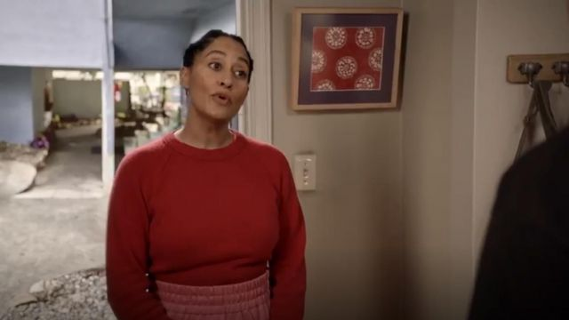 Helmut Lang Cashmere Crop Sweater outfit worn by Rainbow Johnson (Tracee Ellis Ross) in black-ish (S05E23) - TV Show Outfits and Products