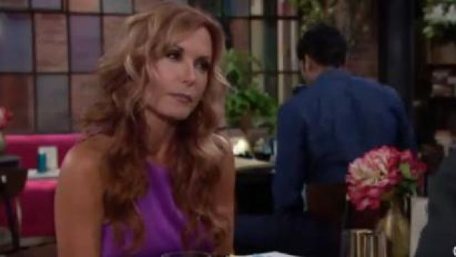 Helmut Lang Mere Silk Tank outfit worn by Tracey E. Bregman as seen in The Young and the Restless June 18,2019 - TV Show Outfits and Products