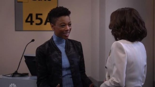 Helmut Lang Wool Slash Turtleneck Sweater outfit worn by Nikki in Will & Grace (S02E18) - TV Show Outfits and Products