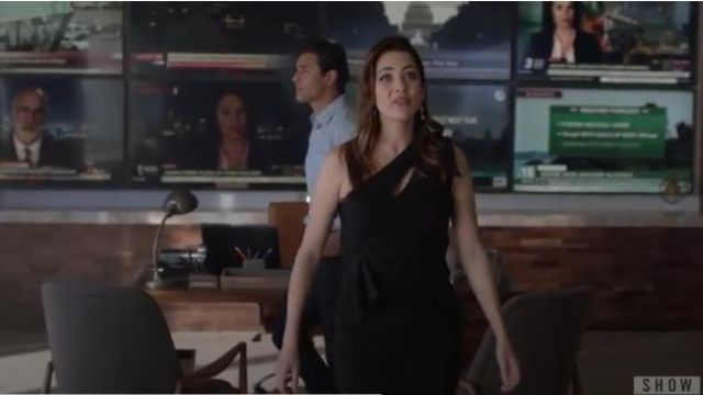 Herve Leger Double Face Metallic One Shoulder Dress outfit worn by Andrea Rojas (Julie Gonzalo) in Supergirl Season 5 Episode 1 - TV Show Outfits and Products