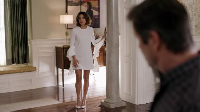 High heels, Crystal Flores (Nathalie Kelley) seen in Dynasty Season 1E16 - TV Show Outfits and Products