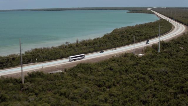 Fashion Trends 2021: Highway Overseas Highway, which crosses the Florida Keys, in Bloodline Season 1 Episode 1