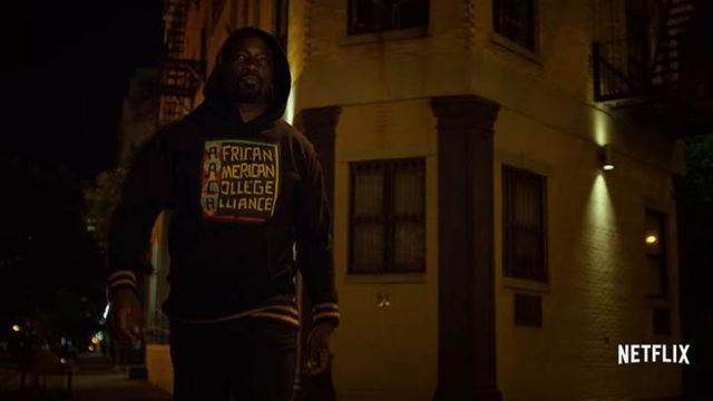 Fashion Trends 2021: Hoody AACA (African American College Alliance) black Luke Cage (Mike Colter) seen in Luke Cage