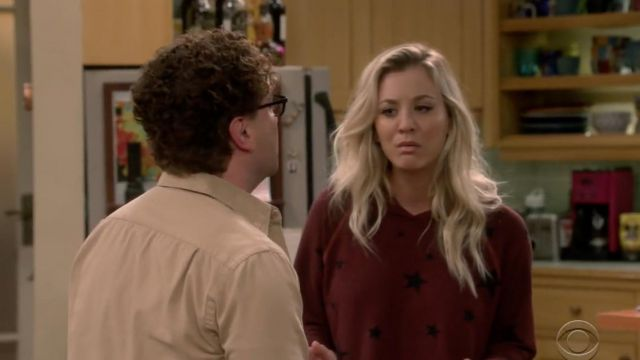 Hoody star Sundry outfit worn by Penny (Kaley Cuoco) seen in The Big Bang Theory S12 Episode 3 - TV Show Outfits and Products