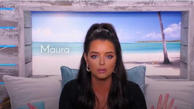 I Saw It First Black Long Sleeve Square Neck Cut Out Mini Dress of Maura Higgins in Love Island (S05E15) - TV Show Outfits and Products