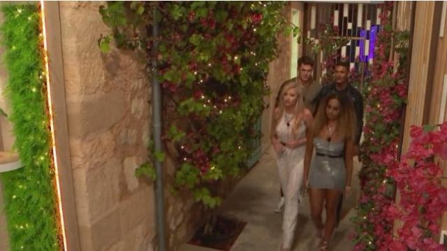 I Saw It First Silver Sparkle Square Neck Mini Dress outfit worn by Amber Gill in Love Island (Season 05 Episode 12) - TV Show Outfits and Products