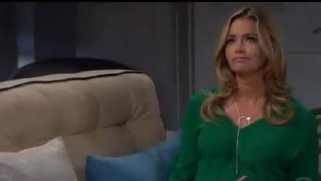 INC International Concepts Tie-Front Top outfit worn by Shauna Fulton (Denise Richards) in The Bold and the Beautiful October 9, 2019 - TV Show Outfits and Products