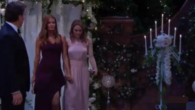 Inc international concepts Crystal Lace Chandelier Earrings outfit worn by Summer Newman (Hunter King) as seen on The Young and the Restless August 15, 2019 - TV Show Outfits and Products
