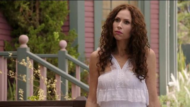 Isabel Marant 'Obira' layered dress outfit worn by Fiona (Minnie Driver) in About a Boy (S02E07) - TV Show Outfits and Products