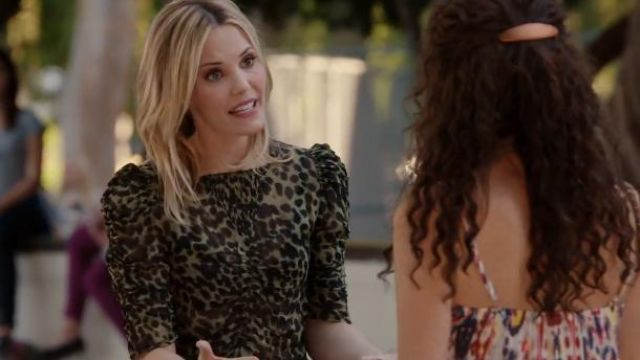 Isabel Marant Etoile Leopard Print Voile Caja Top outfit worn by Dakota (Leslie Bibb) in About a Boy (S02E06) - TV Show Outfits and Products