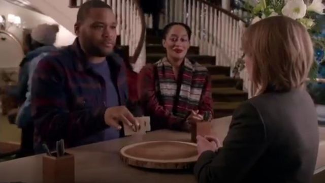 Isabel Marant Idoa Wool Blend Blanket Coat outfit worn by Rainbow Johnson (Tracee Ellis Ross) in black-ish (Season 01 Episode 12) - TV Show Outfits and Products