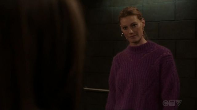 Isabel Marant Mohair & Wool Blend Crop Sweater outfit worn by Alyssa Sutherland in Law & Order: Special Victims Unit (S20E11) - TV Show Outfits and Products