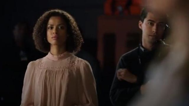 Isabel Marant Pink Skara Blouse outfit worn by Hannah Shoenfeld (Gugu Mbatha-Raw) in The Morning Show Season 1 Episode 4 - TV Show Outfits and Products