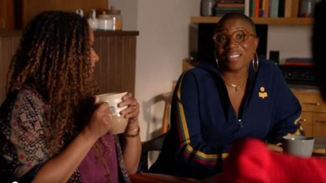 Isabel Marant Striped Track Jacket outfit worn by Henrietta 'Hen' Wilson (Aisha Hinds) in 9-1-1 Season 03 Episode 04