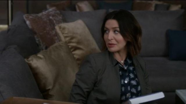 Isabel marant tan/camel colored coat outfit worn by Dr. Amelia Shepherd (Caterina Scorsone) in Grey's Anatomy Season 16 Episode 02 - TV Show Outfits and Products