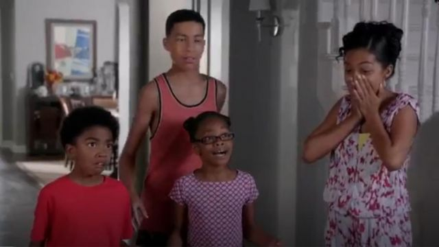 J Crew Girls Knit Plum Foulard Dress outfit worn by in black-ish (Season01 Episode06) - TV Show Outfits and Products