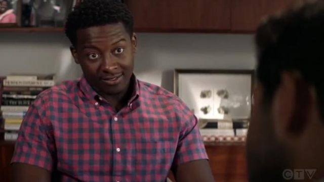 J Crew Stretch secret wash shirt in organic cotton gingham outfit worn by Miles Finer (Brandon Micheal Hall) in God Friended Me Season 2 Episode 2 - TV Show Outfits and Products