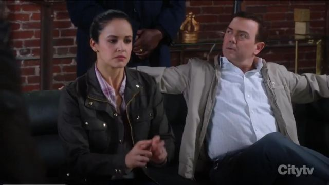 J. Crew Downtown Field Jacket outfit worn by Amy Santiago (Melissa Fumero) in Brooklyn Nine-Nine (S06E18) - TV Show Outfits and Products