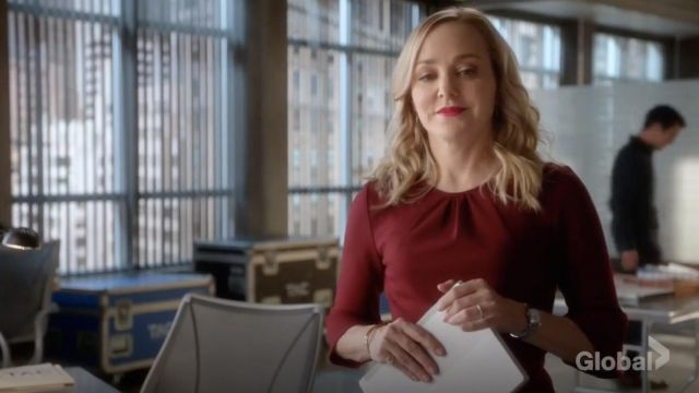 Fashion Trends 2021: J.Crew Bell sleeve sheath in stretch ponte outfit seen on Marissa Morgan (Geneva Carr) in Bull S03E11