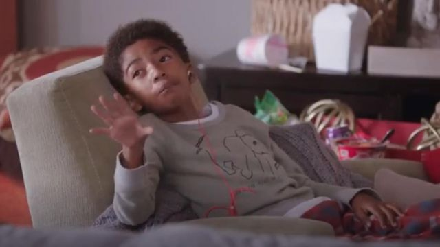 J.Crew Kids Wildlife Trust Elephant Sweatshirt outfit worn by Jack Johnson (Miles Brown) in black-ish (S02E09) - TV Show Outfits and Products