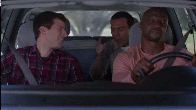J.Crew Midweight Flannel Shirt in Vintage Chimney Plaid of Jake Peralta (Andy Samberg) in Brooklyn Nine-Nine (S03E06)