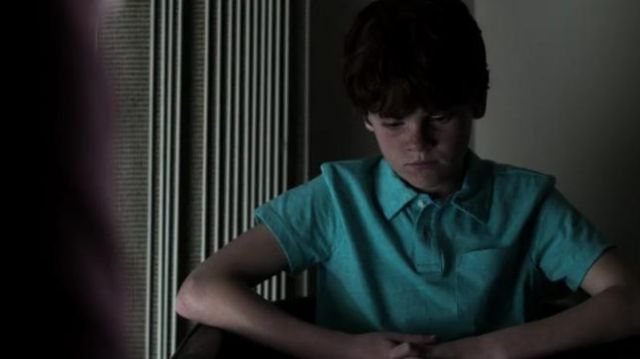 J.Crew Short Sleeve Green/Blue Polo outfit worn by Desmond Swann (Kyle Sue-Murray) in V Wars Season01 Episode02