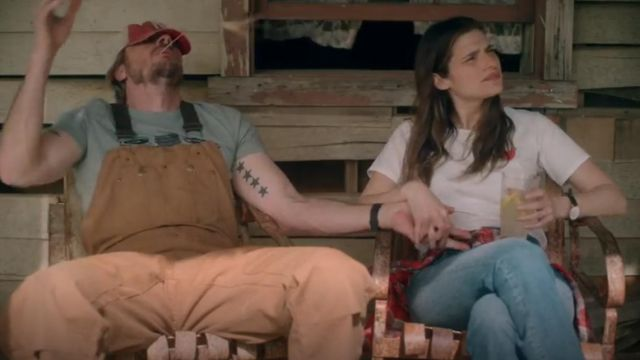 J.Crew The Big Apple T shirt outfit worn by Rio (Lake Bell) in Bless This Mess (S01E06) - TV Show Outfits and Products