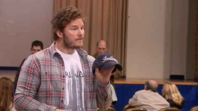 J.Crew Vintage Flannel Shirt in Winterbrook Plaid outfit worn by Andy Dwyer (Chris Pratt) in Parks and Recreation (S05E05) - TV Show Outfits and Products