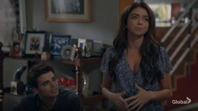 J.o.a. Short Sleeve Wrap Front Blouse outfit worn by Haley Dunphy (Sarah Hyland) in Modern Family Season 11 Episode 06 - TV Show Outfits and Products