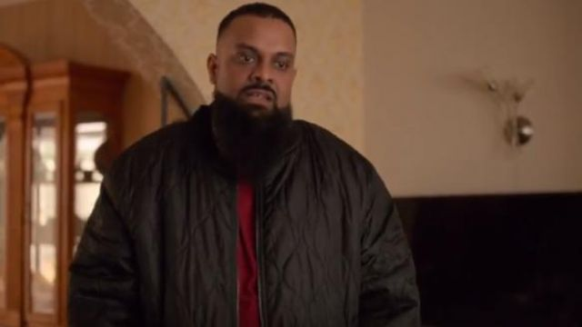 Jacamo Tall Black quilted jacket with borg lining outfit worn by Basheer (Guz Khan) in Four Weddings and a Funeral Season 1 Episode 7 - TV Show Outfits and Products