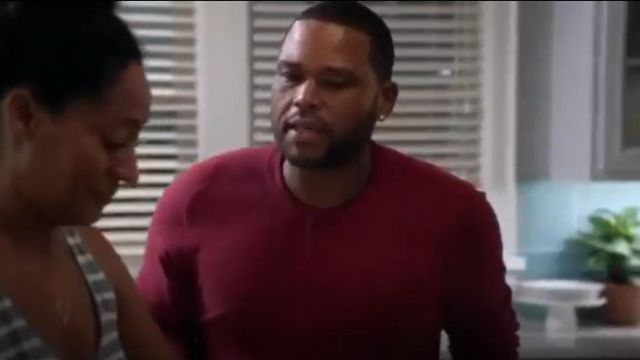 Jack Spade Bronson Henley outfit worn by Andre 'Dre' Johnson (Anthony Anderson) in black-ish (Season 01 Episode 04) - TV Show Outfits and Products