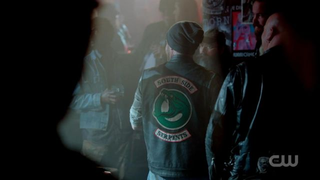 Fashion Trends 2021: Jacket of the South Side Serpents in Riverdale Season 1 Episode 8