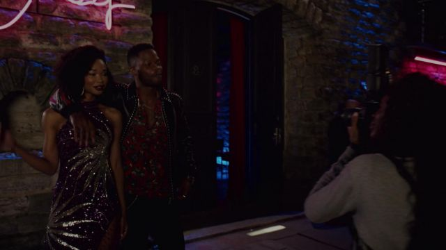 Jacket studded Dsquared2 outfit worn by Jeff Colby (Sam Adegoke) seen in Dynasty Season 2 Episode 2 - TV Show Outfits and Products