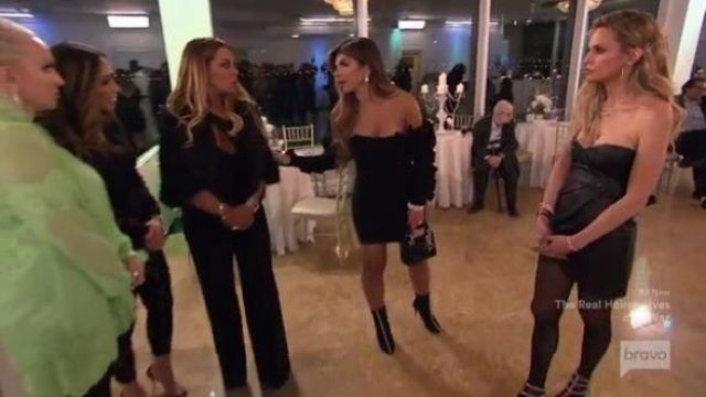 Jay Godfrey Black Portner Cutout Jumpsuit outfit worn by Dolores Catania in The Real Housewives of New Jersey Season 10 Episode 01 - TV Show Outfits and Products