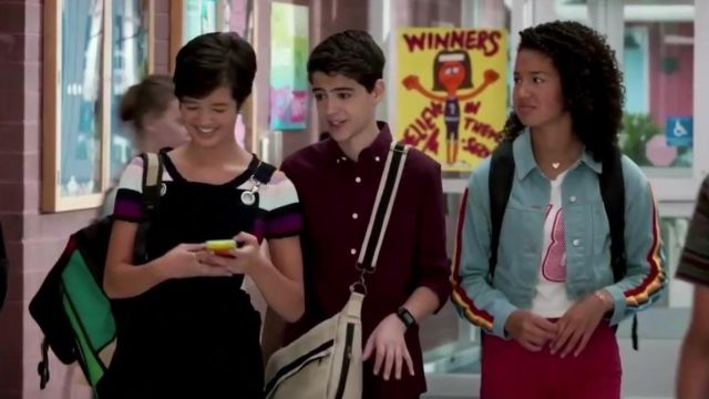 Jean jacket Honey Punch Buffy Driscoll (Sofia Wylie) Andi Mack Season 3 Episode 3 - TV Show Outfits and Products