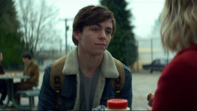 Jean jacket lined Harvey Kinkle (Ross Lynch) seen in The New Adventures of Sabrina (Season 1 Episode 1) - TV Show Outfits and Products