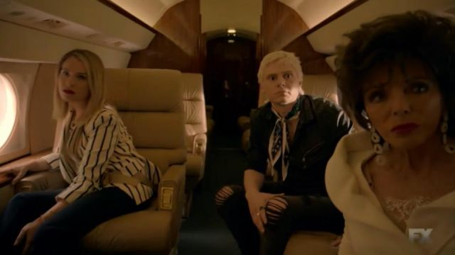Jean removed black of Mr. Gallant (Evan Peters) seen in American Horror Story Revelation (Season 8 Episode 1) - TV Show Outfits and Products