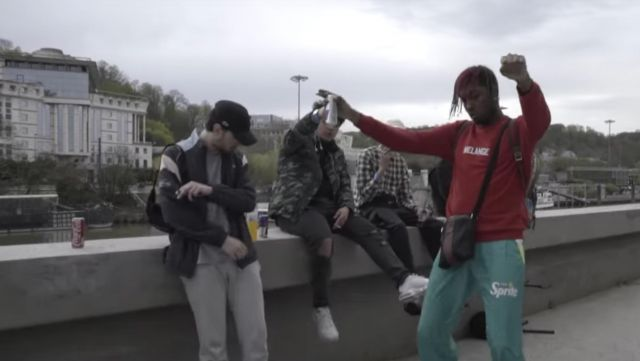 Jogging Sprite outfit worn by Youv Dee in her video clip Opening