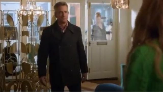 John Lewis & Partners Herringbone Grey Tailored Overcoat outfit worn by Bryce Dylan (Dermot Mulroney) in Four Weddings and a Funeral Season 1 Episode 5 - TV Show Outfits and Products