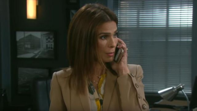 Joie Amarant Blouse outfit worn by Hope Brady (Kristian Alfonso) in Days of Our Lives March 29, 2019 - TV Show Outfits and Products