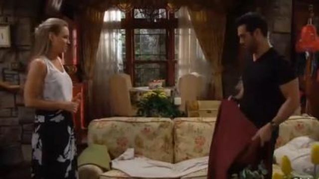 Joie Arlissa Skirt outfit worn by Sharon Case as seen in The Young and the Restless June 14,2019 - TV Show Outfits and Products