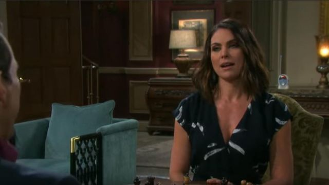 Joie Bethwyn Dress outfit worn by Chloe Lane (Nadia Bjorlin) as seen in Days of Our Lives February 28, 2019 - TV Show Outfits and Products